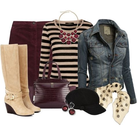 """Jean Jacket Weather"" by dixiendottie on Polyvore"