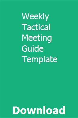 form i-9 rev. 05/21/90  Weekly Tactical Meeting Guide Template | Meeting agenda ...