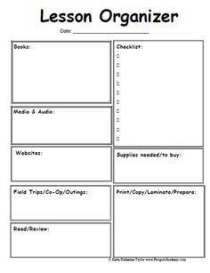 Emergent Curriculum Preschool Lesson Plan Template Template - 21st century lesson plan template