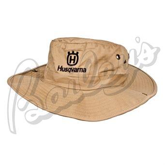 05a501294 Husqvarna Cotton Twill Khaki Bucket Hat | Mattie