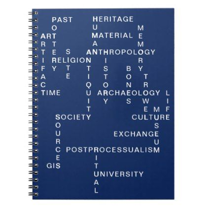 Blue Archaeology Anthropology Crossword Puzzle Notebook Zazzle Com In 2020 Archaeology Anthropology Crossword Puzzle