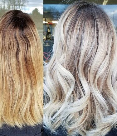 How To Yellow Blonde Lived In Sombre Hair Color Blondes Salonodern