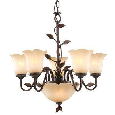 Allen Roth Fym8115al 5 7 Light Eastview Bronze Chandelier Lowes