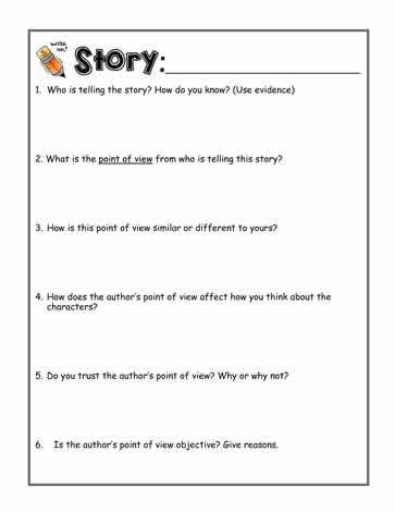 22+ 4th grade point of view worksheets Information