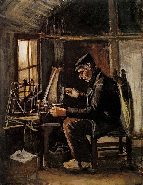 Man Winding Yarn by Vincent van Gogh  (1853-1890): Dutch Post Impressionist Painter. http://holstshop.ru/catalog/styles/postimpressionizm/?page=22