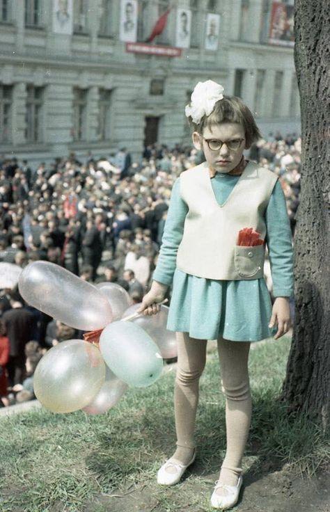 """Soviet Visuals on Twitter: """"May Day celebration, Lvov, Ukrainian SSR, 1968.… """""""