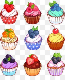 Cupcake Muffin Pastel De Anillo De Dibujos Animados Vector De La Fruta De La Magda Pastelitos De Dibujos Animados Pasteles De Dibujos Animados Cupcake Vector