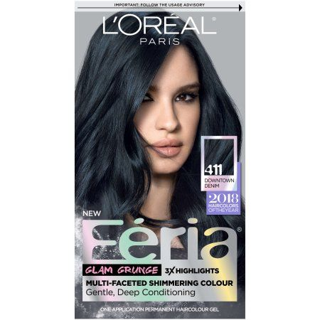 Beauty In 2020 Feria Hair Color Permanent Hair Color Denim Hair