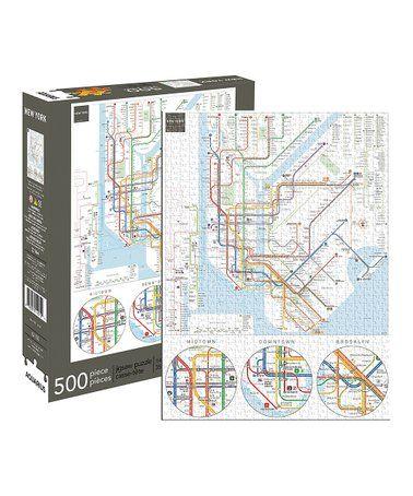 Aquarius Puzzles Subway Map.New York Subway 500 Piece Puzzle New York I Love You In 2019