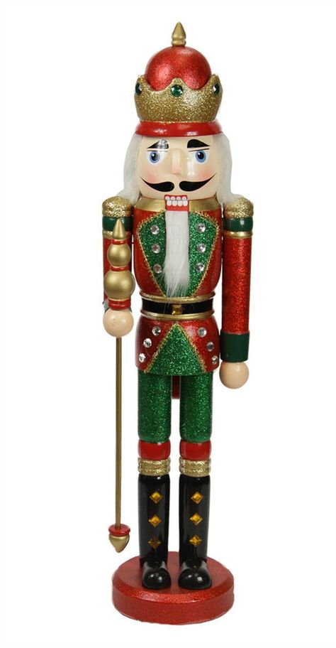 Red and Green King Christmas Nutcracker, 24