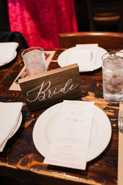 Rustic Bride Table Sign - A Harry Potter Inspired Wedding in NYC #rusticbridetablesign #bridetablesign #bridesign #rusticsweethearttablesigns #harrypotterinspiredwedding #nycwedding #diynycwedding