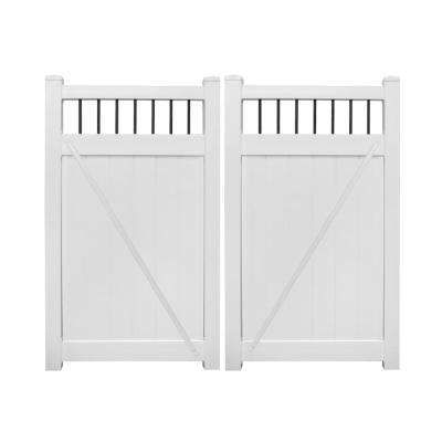 Weatherables Vinyl Fence Gates Vinyl Fencing The Home Depot Vinyl Privacy Fence Vinyl Fence Gate Kit