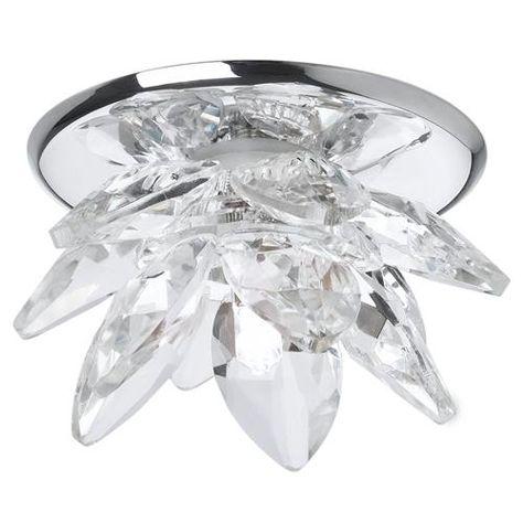 Originelle Kristallglas Einbauleuchte in Blütenform