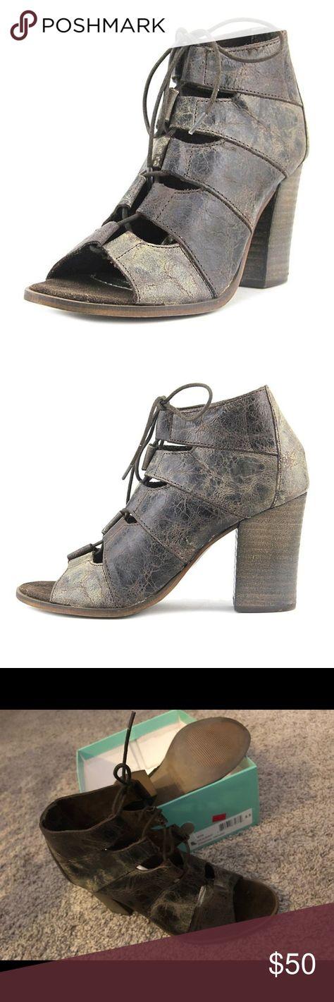 aee388118d DIBA True it s alright sandal bootie laced 8.5 New DIBA true it s alright  charcoal gray distressed