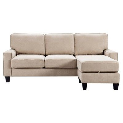 86 Palisades Reversible Small Space Sectional With Storage Serta In 2020 Small Space Sectional Sectional Power Reclining Sectional Sofa
