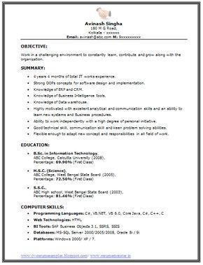 Professional Curriculum Vitae Resume Template For All Job Seekers Sample Template Of An Excellent Resume Curriculum Vitae Resume Resume Format For Freshers
