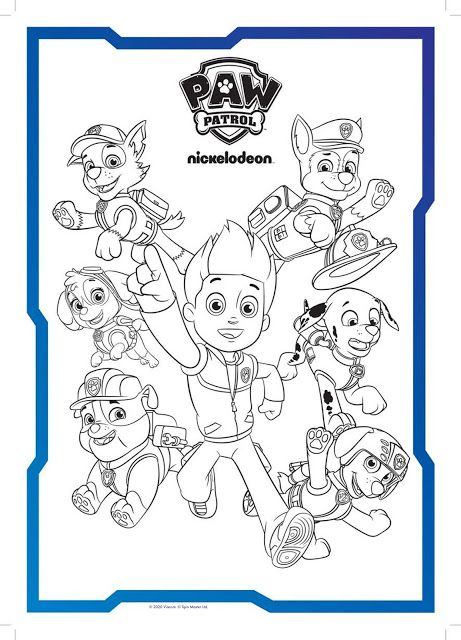 Paw Patrol Coloring In Sheets Nick Jr Color Paw Patrol Coloring Paw Patrol Coloring Pages Coloring Books