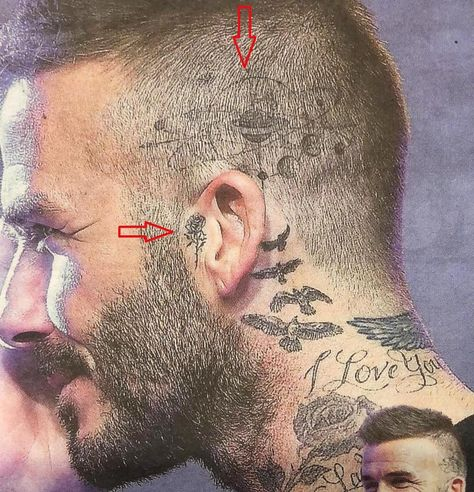 Yes – two new … on the head and on ear … Yes, two new ones … on the head and the ear Beckham