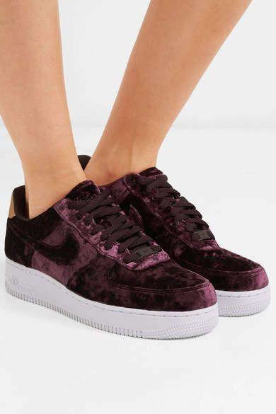 Velvet sneakers, Faux leather heels