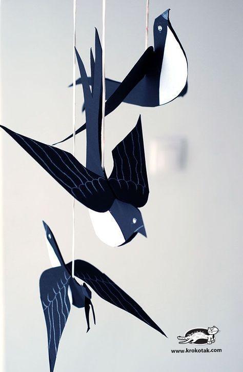 Photo of Black Cardboard SWALLOW