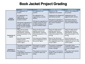 Book Jacket Project Checklist And Rubric Book Jacket Rubrics For Projects Phonics Centers