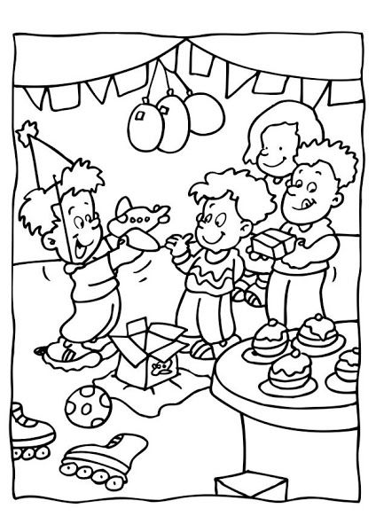 Birthday Party Coloring Pages Free Coloring Pages Monster