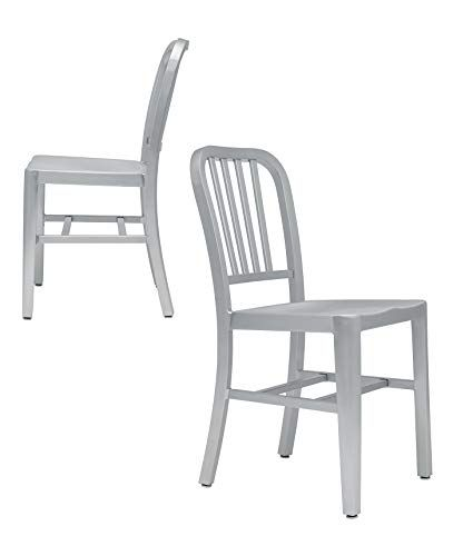 Bryant Navy Side Chairs Set Of 2 Commercial Grade Aluminum