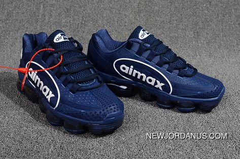 9518 Nike Air VaporMax 95 OG Undftd Kpu BIG LOGO Mens Running Shoes AJ7183  441 Navy White 40--47 Super Deals 100947cee