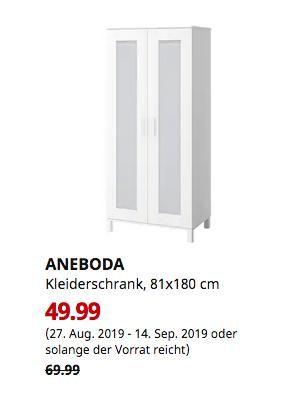 Ikea Hamburg Schnelsen Aneboda Kleiderschrank Weiss 81x180 Cm