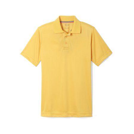 Standard /& Plus Sizes Short Sleeve Picot Collar Polo Shirt