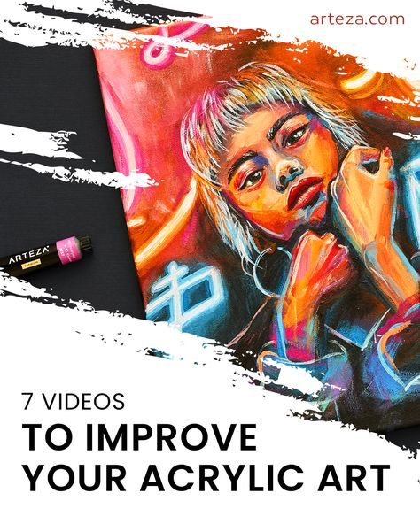 Improving your acrylic painting skills doesn't have to be intimidating, check out some of these amazing videos to learn more about the medium and maybe get inspired. With everything from inspiration videos to techniques for beginnings, we've gathered our favorite Acrylic painting videos in one place just for you. So, time to get creating!