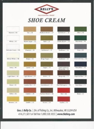 Kelly S Shoe Boot Leather Cream Polish By Fiebing S All Colors Cream Shoes Shoe Boots Cream Polish