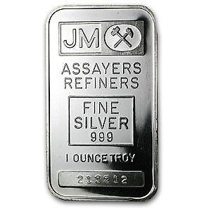 1 Oz Silver Bar Johnson Matthey Plain Back Sku 63107 Silver Silverbar Silver Bars Silver Fine Silver