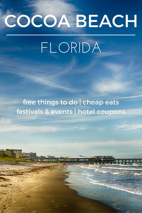 Enjoy the sun on Florida's Space Coast - Check out the destination guide to Cocoa Beach and other major U.S. cities by HotelCoupons.com