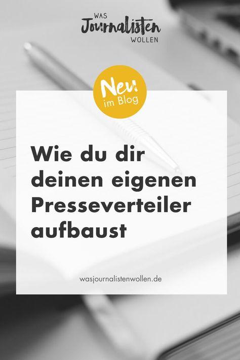 Pin Auf Wasjournalistenwollen De Pr Tipps Schreibtipps Pressemitteilungen Pressearbeit Pr Ideen