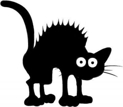 Dessin De Chat Noir Halloween Les Dessins Et Coloriage Cat Art Halloween Silhouettes Cat Design
