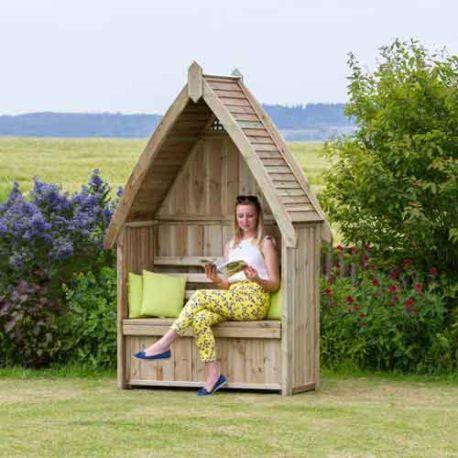 Harrington Arbour In 2020 Garden Seating Seat Storage Garden Arbor