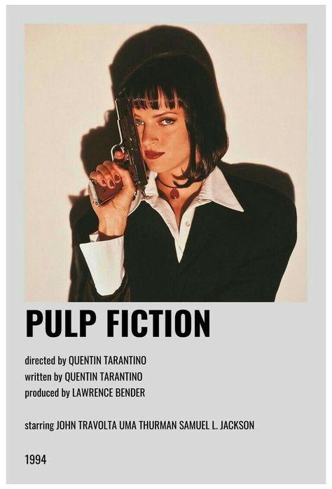 minimal movie posters pulp fiction