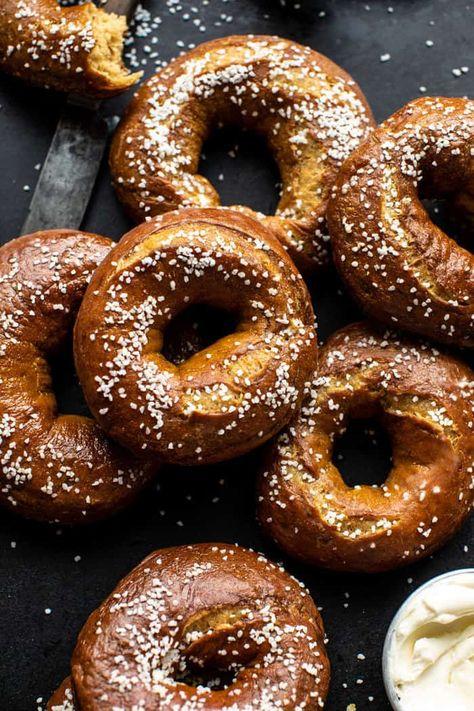 Easy Homemade Pretzel Bagels | halfbakedhavrest.com