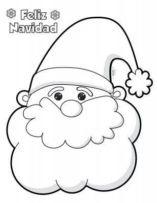 Manualidad Navidena Santa Claus En Algodon Y Bolitas De Papel Santa Claus Para Colorear Manualidades Navidenas Manualidades