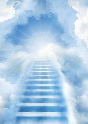 El Fondo Del Cielo Lleva Al Cielo In 2021 Heaven Wallpaper Background Images Stairs To Heaven