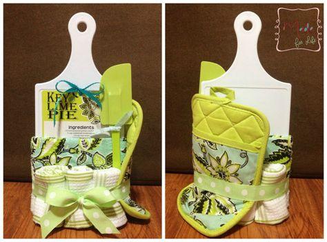 Kitchen towel cake wedding gift bridal shower by AllenMadeforlife
