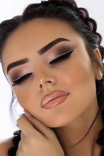 Matte Smokey Eyes With Double Eyeliner ★ Thirsty for some fresh . - Matte Smokey Eyes With Double Eyeliner ★ Thirsty for some fresh … Matte Smokey - Double Eyeliner, Gold Eyeliner, Smokey Eyeshadow, Eyeshadow Makeup, Makeup Brushes, Glitter Eyeshadow, Makeup Remover, Eyeliner Ideas, Eyebrow Makeup
