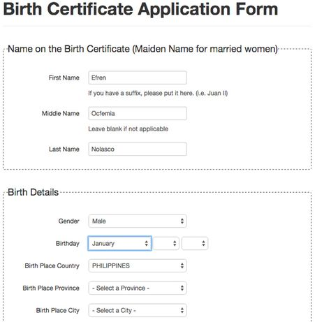 How to get NSO Certificate Online - Birth, Marriage, Death or - blank birth certificate form