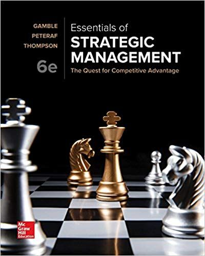 Test Bank For Essentials Of Strategic Management The Quest For