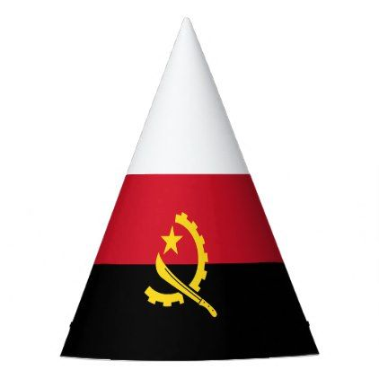 Patriotic Angolan Flag Party Hat Zazzle Com With Images Party Hats