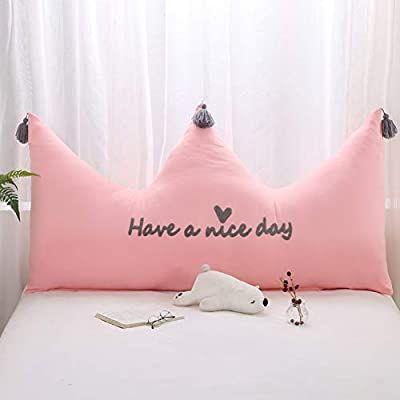 Almohada Couronne almohada almohada cama coj/ín espalda Grande coraz/ón almohada Linda cama Cintura almohada ins Oreillers Color : Pink, Size : 110 * 56cm