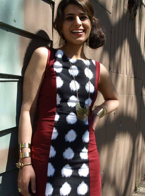 Ain't no arm party like a fair trade arm party! Kurti Patterns, Dress Patterns, Kurtha Designs, Ikkat Dresses, Kurta Neck Design, Kurta Designs Women, Indian Designer Outfits, Arm Party, Handmade Dresses