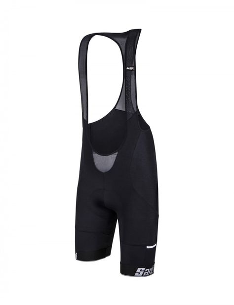 Made in Italy by Santini Men/'s Racer Cycling Bib Shorts in Black