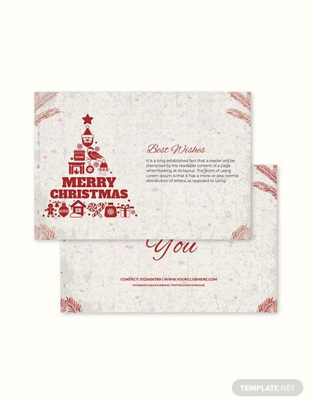 Christmas Thank You Card Templates Free Christmas Card Template Christmas Card Templates Free Thank You Card Template